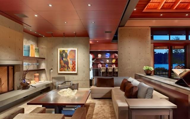 Salas modernas con detalles en madera  Decoracion de