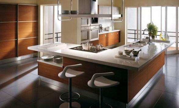 Cocinas modernas con amplios desayunadores  Decoracion de Interiores
