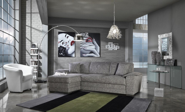 Salas modernas decoradas en gris  Decoracion de Interiores