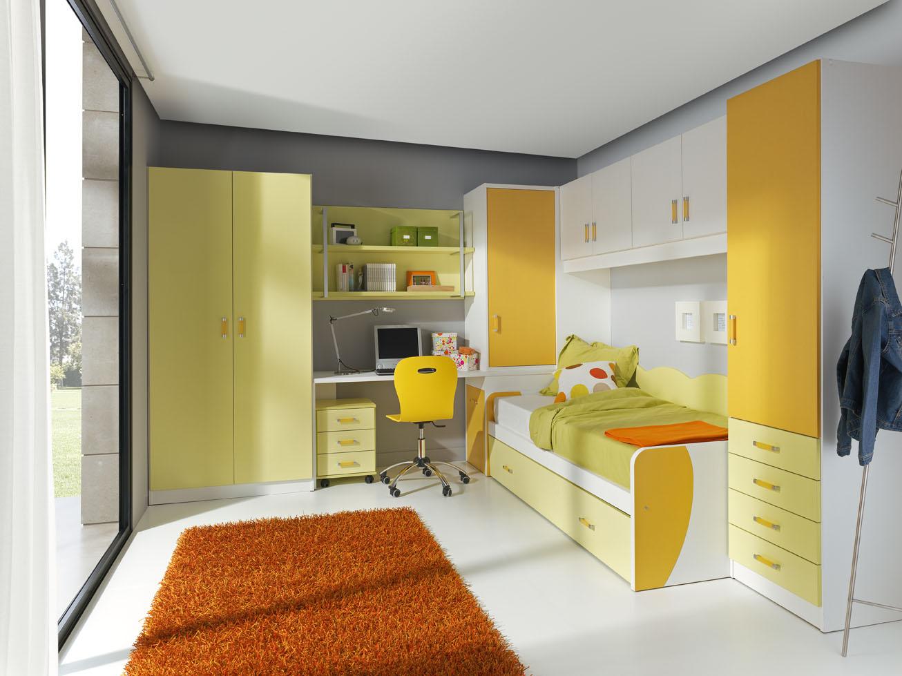Dormitorios modernos funcionales para jovenes y nios