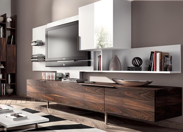 Muebles modernos de televisin  Decoracion de Interiores