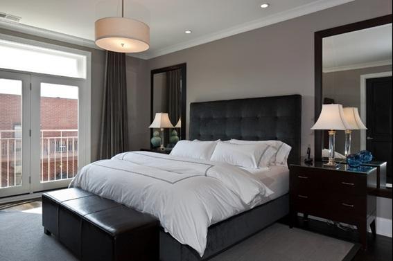 Decoracin de dormitorios en color gris  Decoracion de