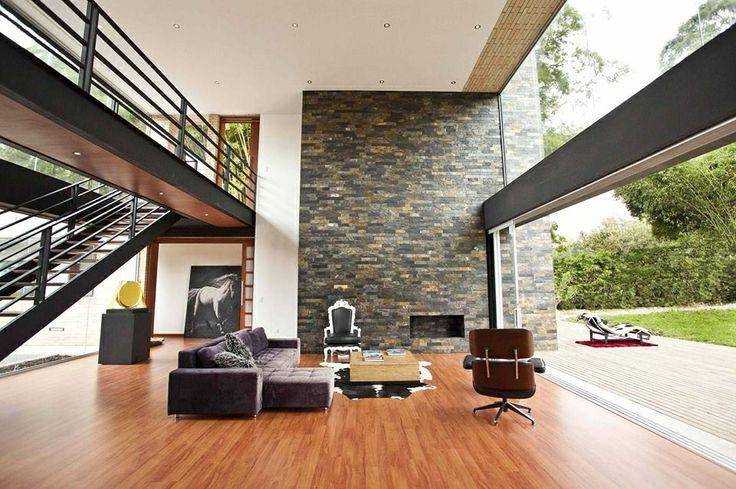 Diseos modernos de doble altura  Decoracion de Interiores
