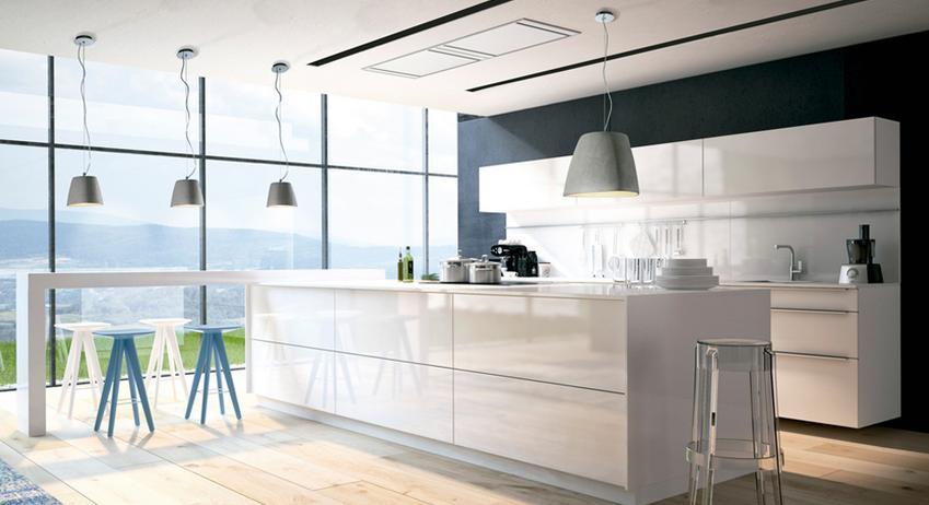 Iluminacin moderna para cocinas  Decoracion de Interiores