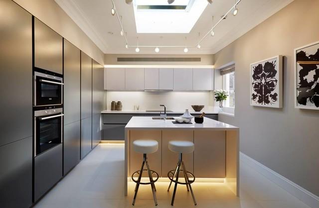 Tendencias modernas para iluminacin de cocinas  Decoracion de Interiores