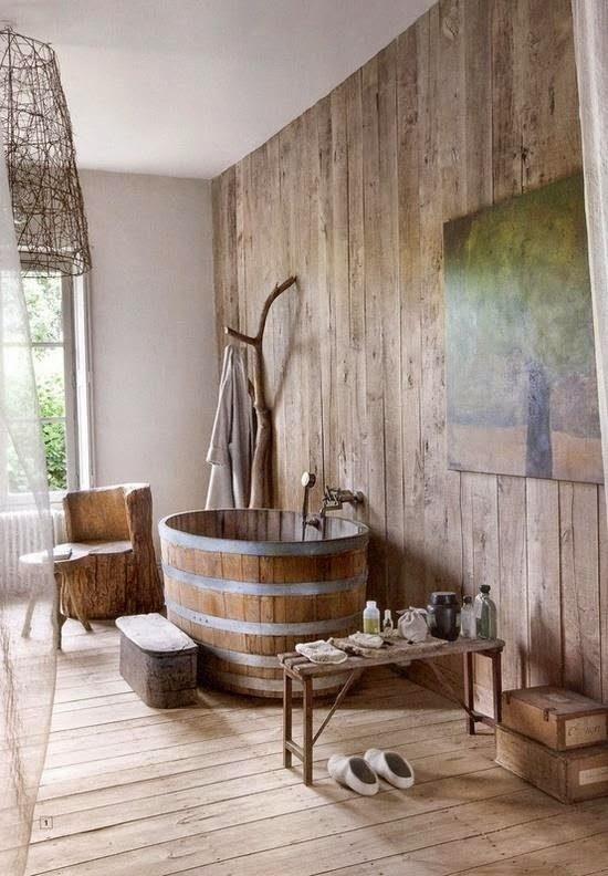 Madera y simil madera en la decoracin de baos
