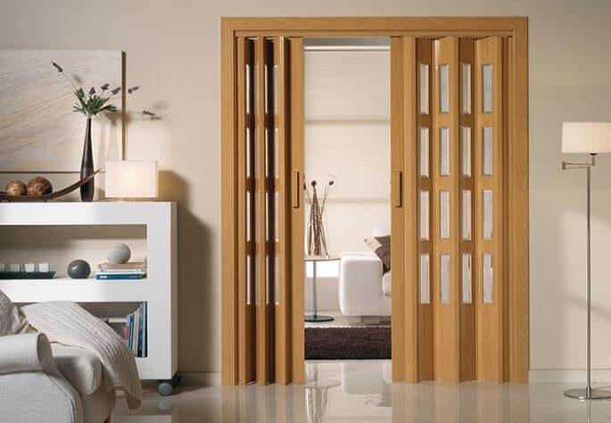 Puertas plegables puertas plegadizas de pvc americana for Puerta corrediza pvc