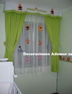 cortinas verde