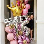 Bouquet Sweet 16 Decoraciones Globos