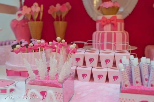 Mesa de dulces Barbie Shop  DECORACIN FIESTAS