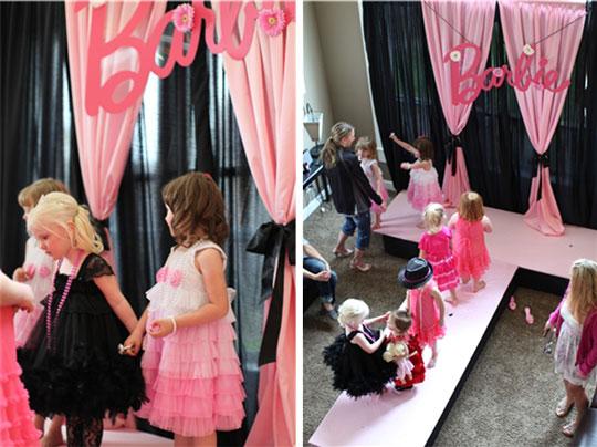Cumpleaos Barbie pasarela de moda  DECORACIN FIESTAS