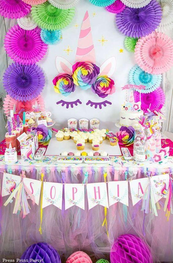 Una pared Unicornio para tu fiesta  20 FOTOS  DECORACIN FIESTAS