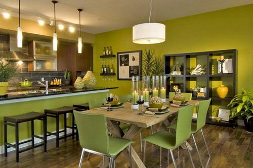 Comedores en color  comedores con base en color verd