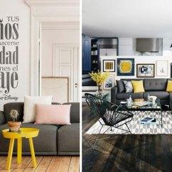 Fundas Para Un Sofa Cama Simmons Beautyrest Bed Decoración Gris Con Amarillo - Cómo Combinarlo En Tu Hogar
