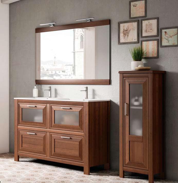 trento mueble de baño rustico