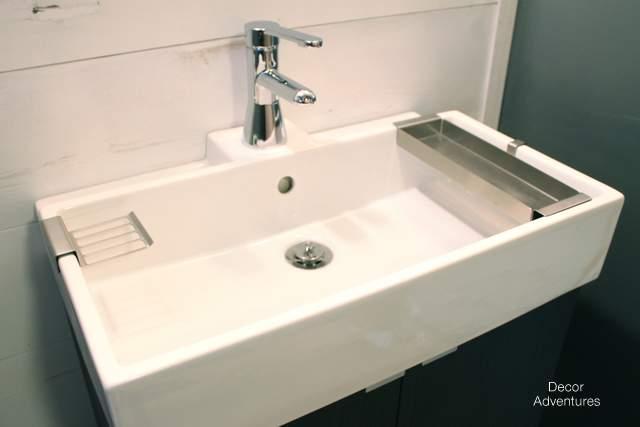 new basement bathroom vanity ikea style » decor adventures