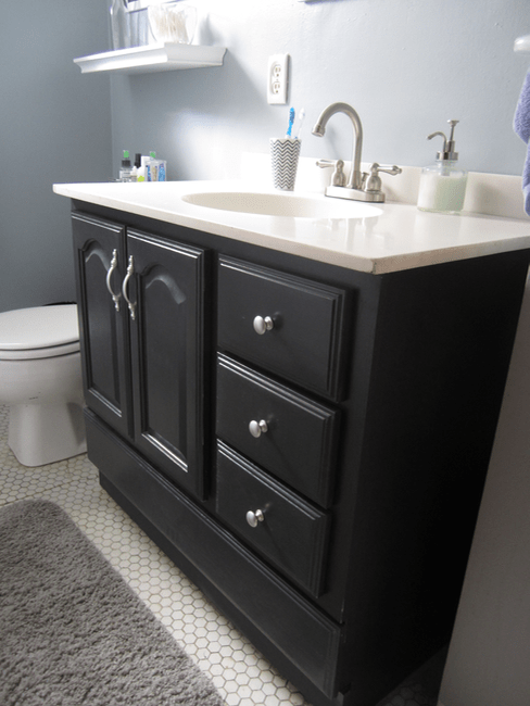 bathroom vanity makeover with chalk paint � decor adventures