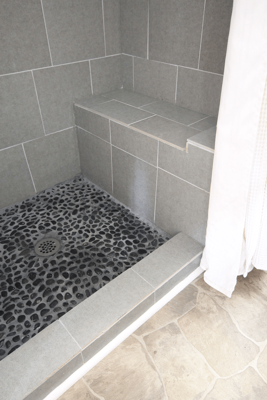 how to grout pebble tile decor adventures