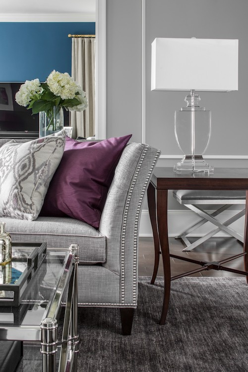 living room design with grey sofa gold ideas uk 15 ways to style a in your home decor aid pillows