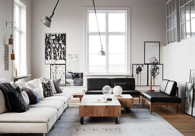living room modern art