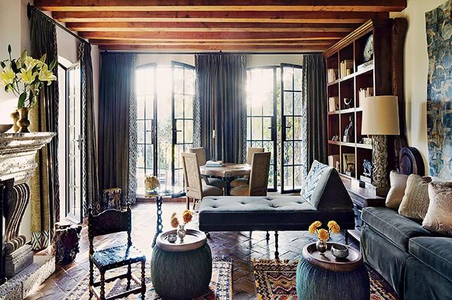 vintage bohem tarzı iç ev tasarımı ilham verdi.