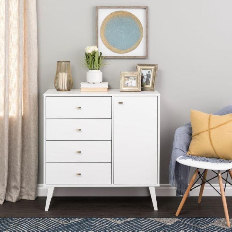 white dresser with extra storage