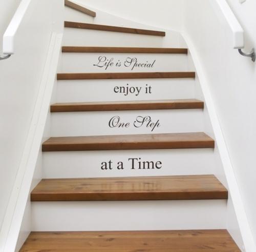 Ideas decoracin escaleras con mensaje
