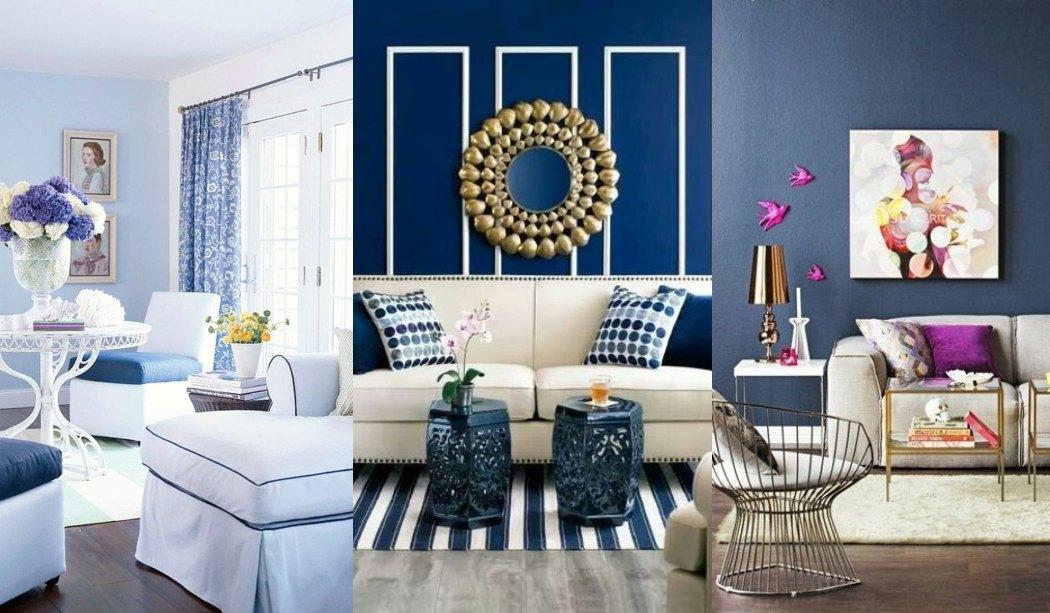 Salones decorados en azul 17 Fotos de salones azules