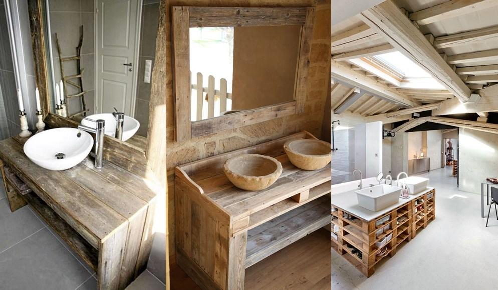 Mueble de bao fabricado con palets fotos ideas