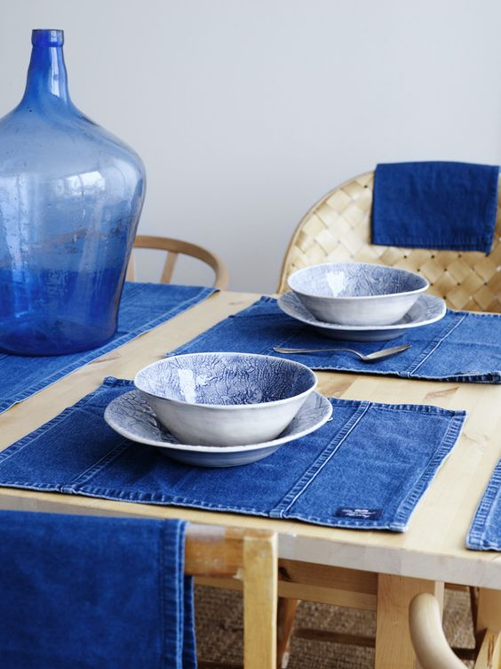 Decorate with recycled jeans: Table Mat