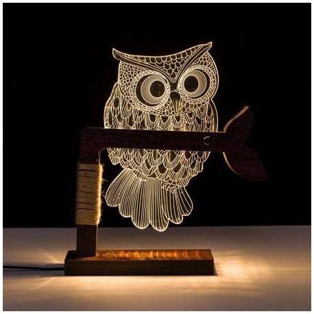 Comprar Lmpara LED de mesa decorativa Bho en madera