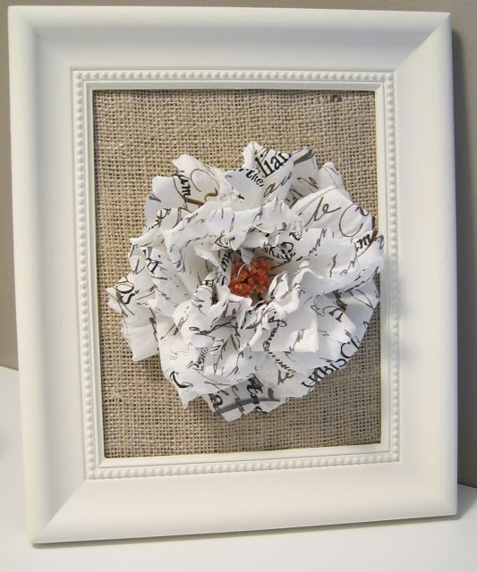 framed flower
