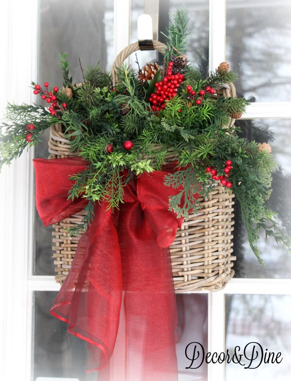 Basket front door decoration