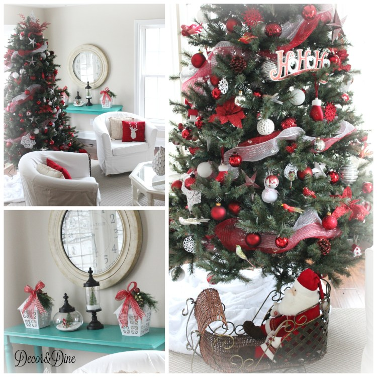 farmhouse Christmas living room
