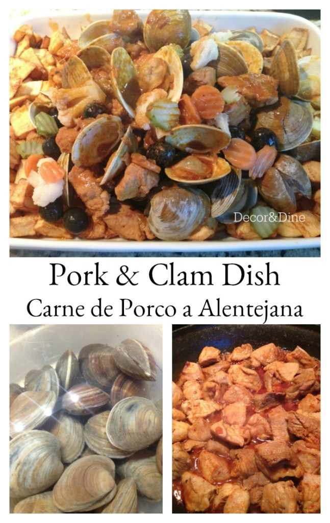 pork and clam dish, carne de porco a alenejana