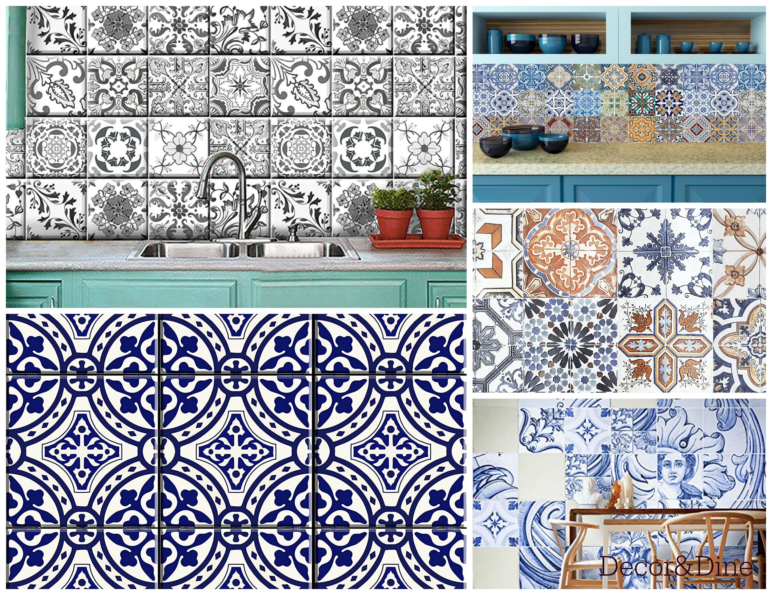 - Portugal Inspired Tile Stickers – Decor And Dine
