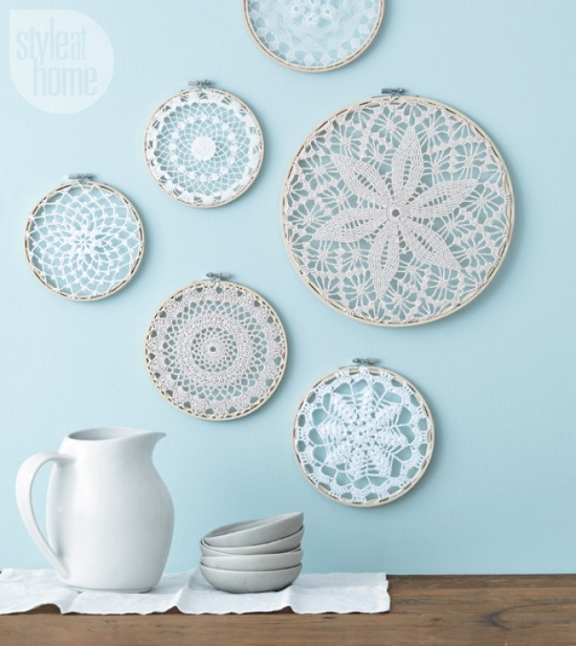doilies wall art