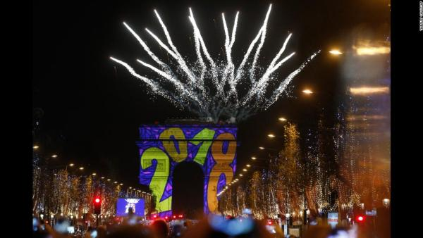 new year celebration.champs-elysees paris