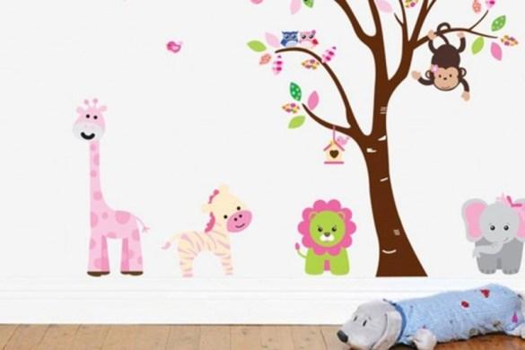 Adesivos de parede para quarto infantil – Como Usar