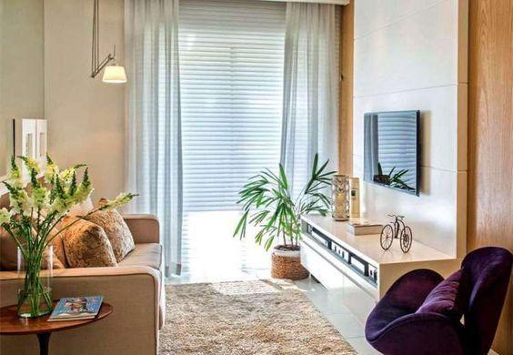 cortinas para salas pequenas