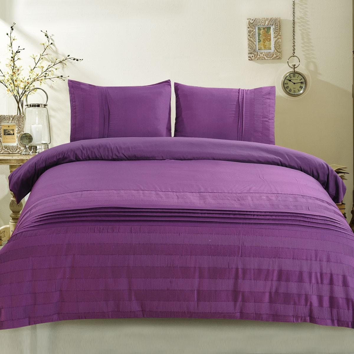 3Piece Purple Duvet Cover Set DKLJ013  Decoraport Canada
