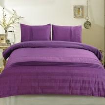 3-piece Purple Duvet Cover Set Dk-lj013 Decoraport Canada