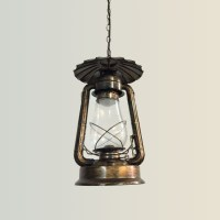 Rust Built Vintage Pendant Light with Glass Shade (DK-5260 ...
