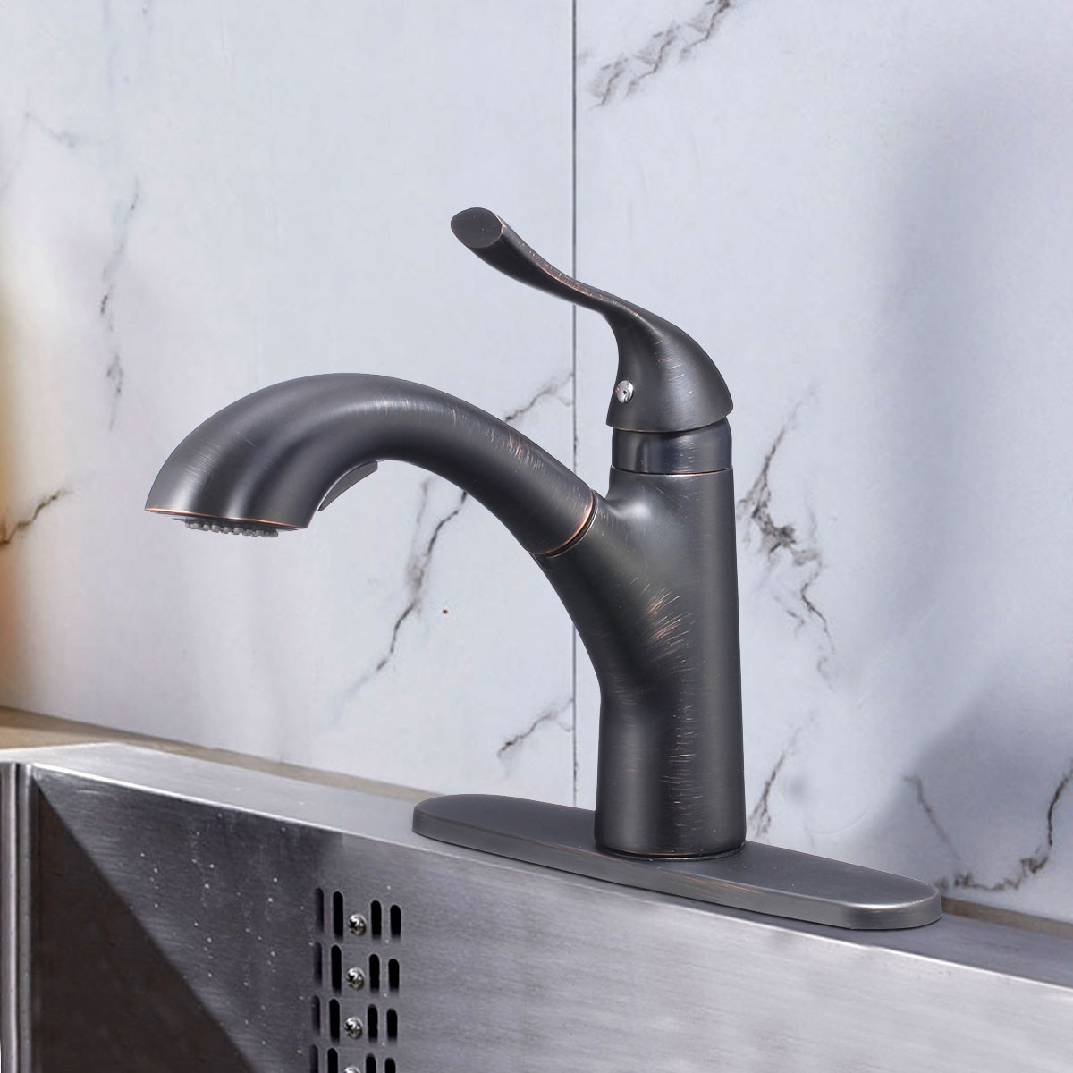 black kitchen faucets pull out spray glassware bronze finished brass faucet