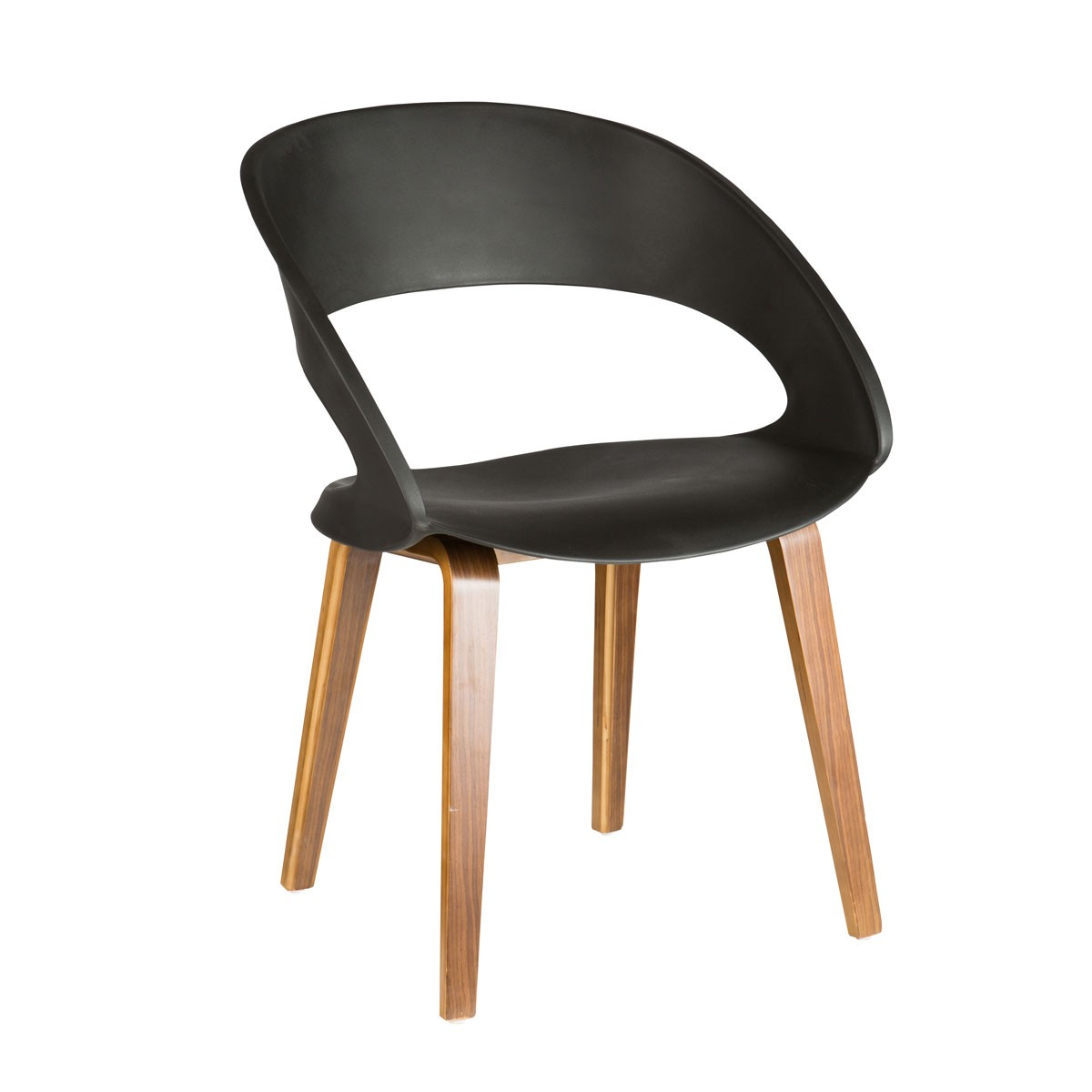 black plastic chair with wooden legs diy stand molded in wood ymg 9307b