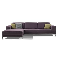Blue Leather Sofa Canada Loja E Colchoes Osasco Fabric Left Facing Chaise Sectional With Pillows Purple