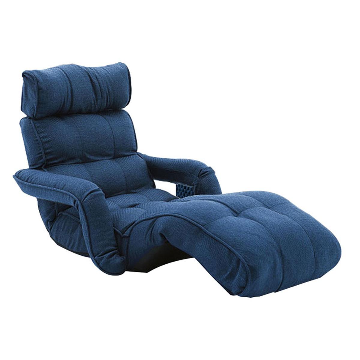 blue fabric recliner sofa new cushions dfs dark soft linen folding floor