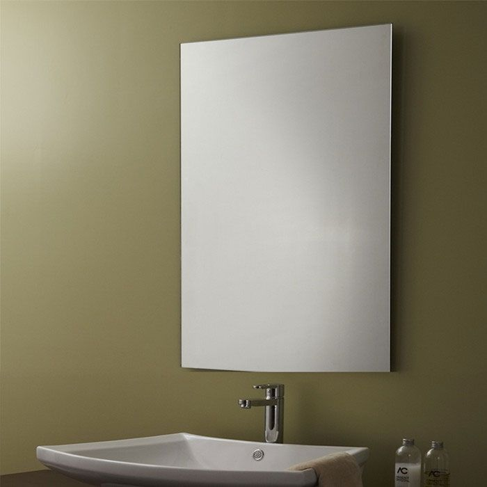 Decoraport Unframed Bathroom Vanity Wall Hall Mirror Reversible Flat Polished  eBay