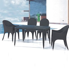 2 Chairs And Table Rattan Swing Chair Balcony Pe 5 Pieces Dining Set 1