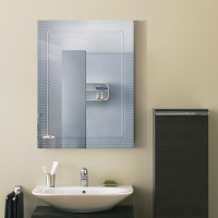 24 x 18 In. Wall-mounted Rectangle Bathroom Mirror (DK-OD ...